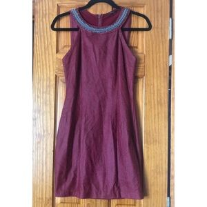Guess Maroon Dress with See Through Back